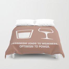 Lab No. 4 - Optimism To Power William James Quotes Poster Duvet Cover