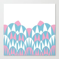 Modern Day Arches Pink Canvas Print