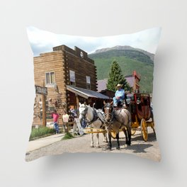 Catch the Afternoon Stage out of Silverton Throw Pillow