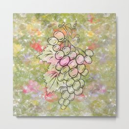 Bunch of grapes with colorful background Metal Print