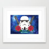 stormtrooper Framed Art Prints featuring Stormtrooper by Larissa