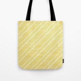 Herringbone 45 Yellow Tote Bag