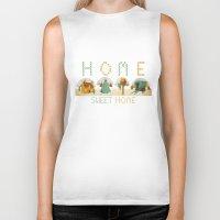home sweet home Biker Tanks featuring home sweet home by Kerry Hyndman