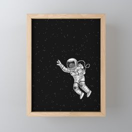 Astronaut in the outer space Framed Mini Art Print