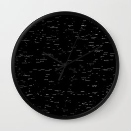 Void of meanings Wall Clock