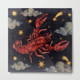 Zodiac sign Cancer Metal Print