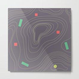 Map land color pattern Metal Print