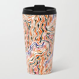 red topography Travel Mug