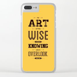 Lab No. 4 The Art Of Being William James Inspirational Quotes Clear iPhone Case