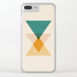Abstract Minimal Mid Century Clear iPhone Case