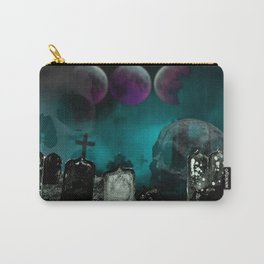 Creepy Fog in the Graveyard Carry-All Pouch