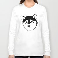 shiba inu Long Sleeve T-shirts featuring Shiba Inu by MIX INX