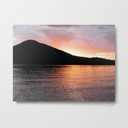 Mystical Mountain Sunset Metal Print