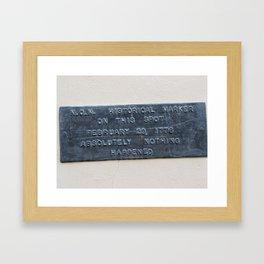 non historical Framed Art Print