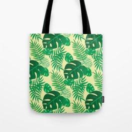 Beautiful Tropical Leaves Pattern Tote Bag