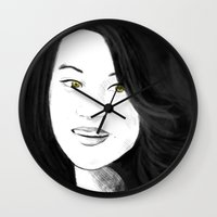 kitsune Wall Clocks featuring Kitsune by Nikki Homicide