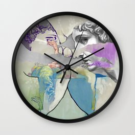 Ghost in the Stone #2 Wall Clock