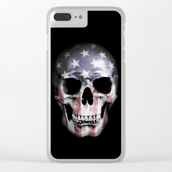 American Skull Clear iPhone Case