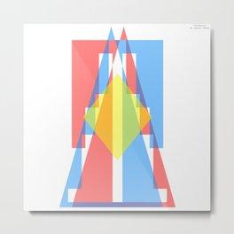 Triangule Metal Print