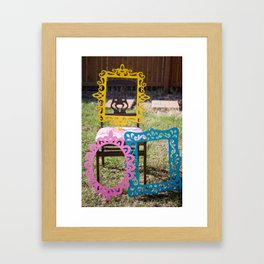 framed with color Framed Art Print
