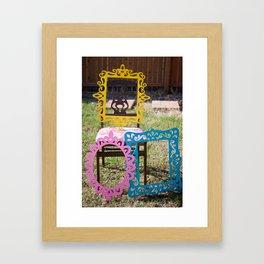 framed with color Framed Art Print