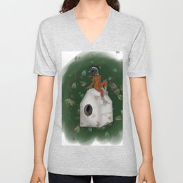 The Great Curassow Unisex V-Neck