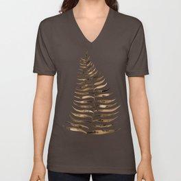 Palm Leaf – Sepia Unisex V-Neck