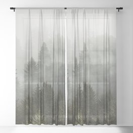 Adventure Times - Nature Photography Sheer Curtain