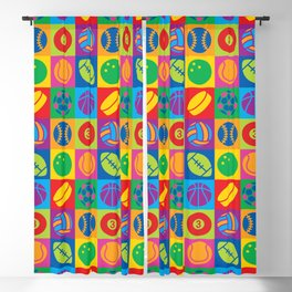 Pop Art Sports Balls Blackout Curtain