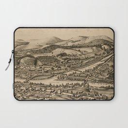 Old Lebanon NH & White River Junction VT Map (1889) Laptop Sleeve