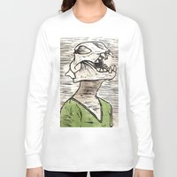 leon Long Sleeve T-shirts featuring Leon by Amber Kahler