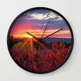Dolly Sods Sunset, Tucker County, WV Wall Clock