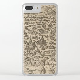 Historical Map of Damascus Syria (1575) Clear iPhone Case