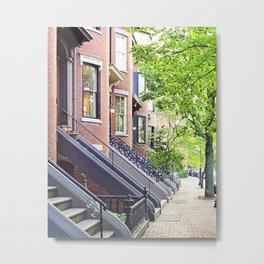 South End Neighborhood Stoops Metal Print
