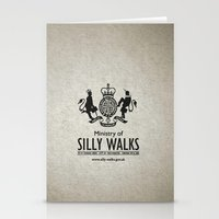 monty python Stationery Cards featuring MONTY PYTHON - Ministry of Silly Walks by La Cantina