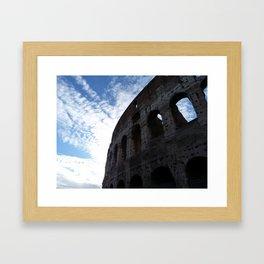 Colosseum and sundown Framed Art Print
