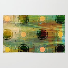Sunburst Discs of Joy Rug