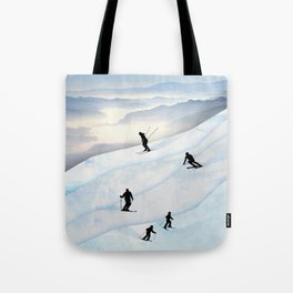 Skiing in Infinity Tote Bag