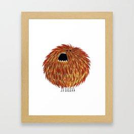 Poofy Chewbacca Framed Art Print