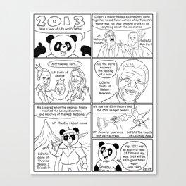 Spandex Panda - Comic 5 - New Years 2014 Canvas Print