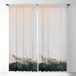 abstract smoke wall painting Blackout Curtain