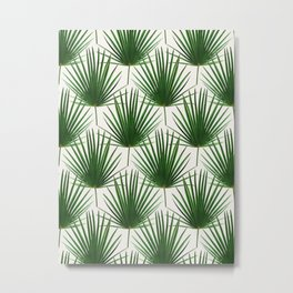 Simple Palm Leaf Geometry Metal Print