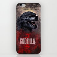 godzilla iPhone & iPod Skins featuring Godzilla by Denda Reloaded