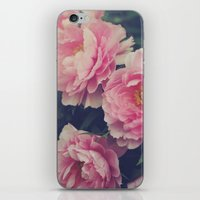 peonies iPhone & iPod Skins featuring Peonies  by Kameron Elisabeth