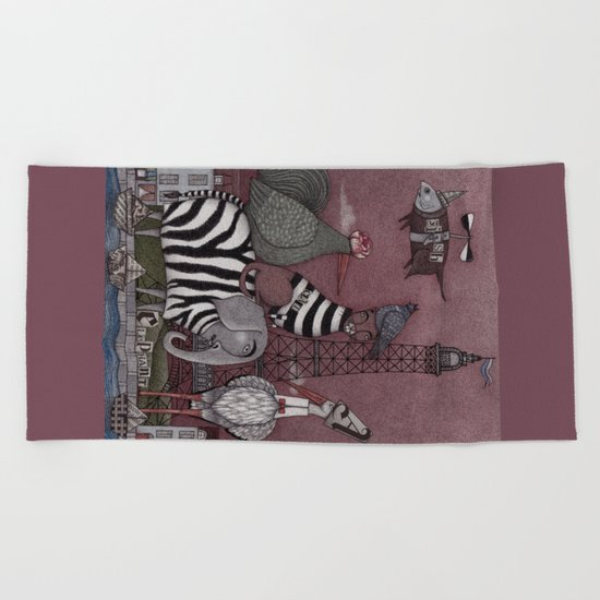 Animal Convention Beach Towel