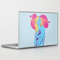 kate moss Laptop & iPad Skins featuring Gangster Kate Moss by MOONGUTS (Kyle Coughlin)