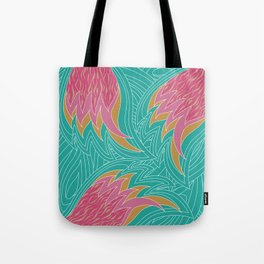 Sizzling flames Tote Bag