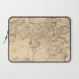 Map of the City of Boston and Vicinity (1907) Laptop Sleeve