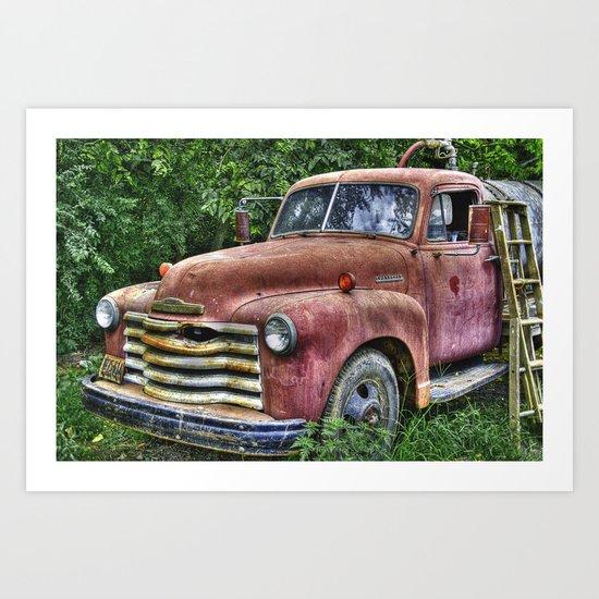 Old Chevy Truck Art Print