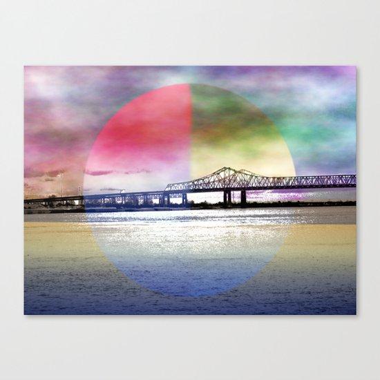 Crescent City Connection Bridge Canvas Print